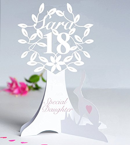 Personalised 3D Paper Cut 18th 21st Or Special Birthday Card For A DaughterGranddaughterSisterNiece Etc Amazoncouk Handmade