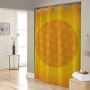 Right Canvas Yellow/Orange 180cm x 200cm Shower Curtain - RG138NPIC00088