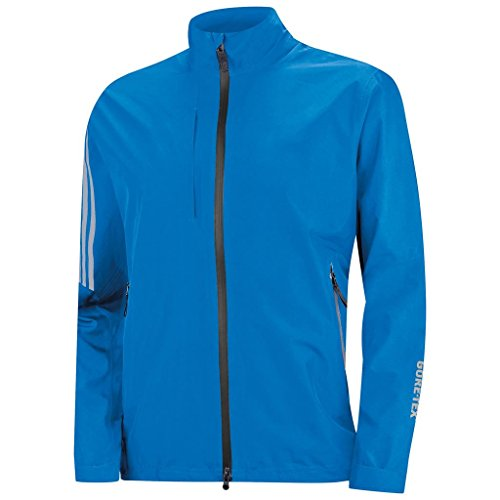 adidas 2015 Climaproof Gore-TEX Two Layer Chest Pocket Full Zip Mens Golf Jacket Bright Blue Small