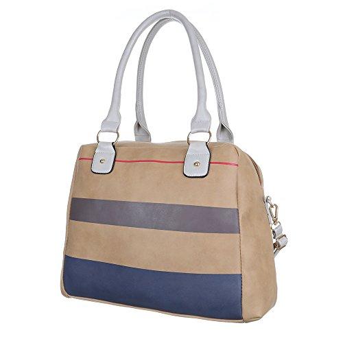 Schultertasche Handtasche Tragetasche Weiß Beige