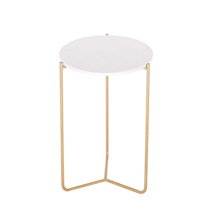 Fabulous Amazon Com Simple Side Table End Table Marble Tabletop Dailytribune Chair Design For Home Dailytribuneorg