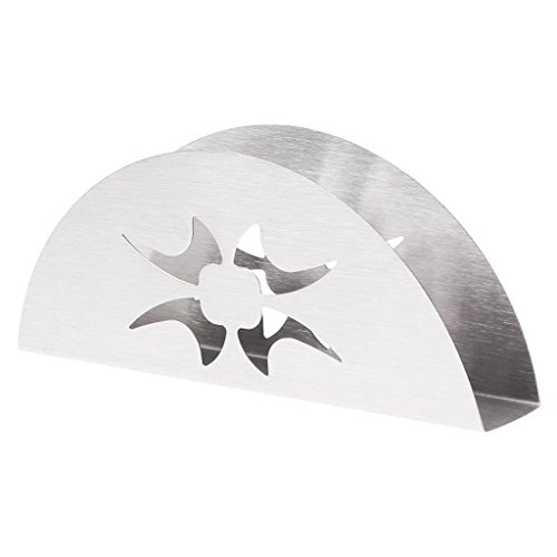 Milue Fan-Shaped Stainless Steel Napkin Rack Tissue Holder Modern Table Decoration (02#) ()