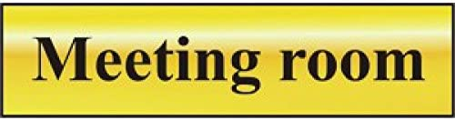 Lounge Silver with Black Text Metal Self Adhesive Sign 200mm x 50mm
