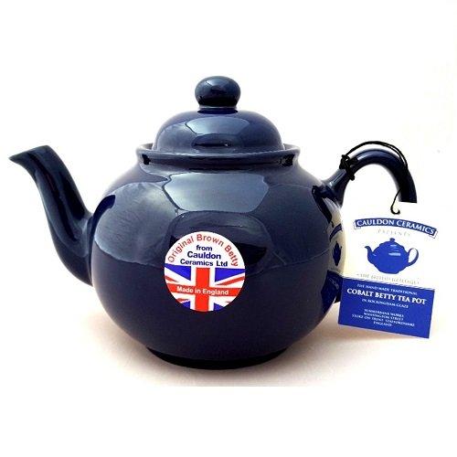 Brown Betty 6 Cup Teapot Cobalt Blue