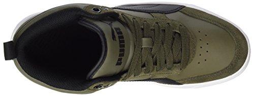 Adulte Night Rebound black Sneakers Olive V2 Mixte Street Basses Puma Vert U6FYqCxwx