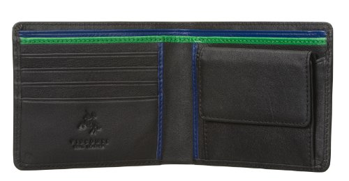 visconti-bond-bd10-mens-black-with-multi-color-soft-thin-leather-bifold-wallet