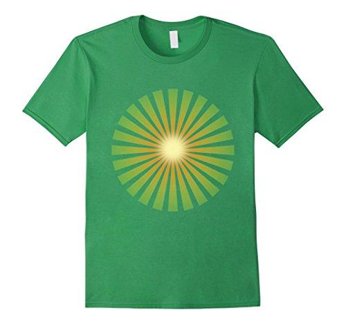 Mens Sunshine Chi Kung Shirt - Tai Chi Meditation Qi Gong TShirt 2XL Grass