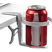 Vector Cup Holder -- Clip-on and Portable For Travel, Airplanes, Cafes, Desks, Tables and Wheelchairs