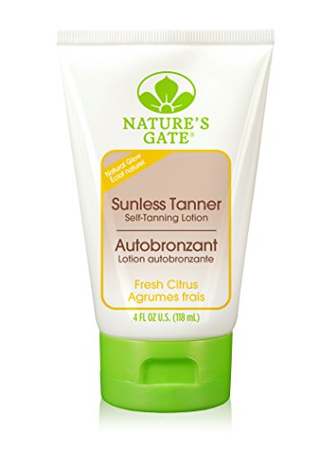 Natures Gate Sun Care (Nature's Gate Natural Sunless Tanner, Fresh Citrus Self Tanning Lotion with Aloe and Olive Oil, Paraben Free, Pthalate Free, 4 Ounce (Pack of 2))