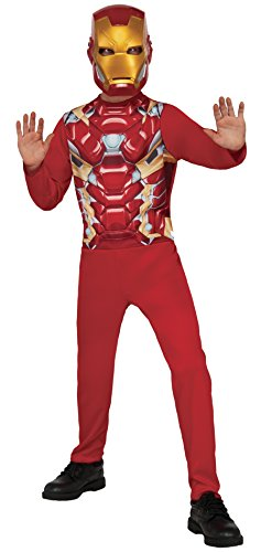 [Rubie's Costume Captain America 3: Civil War Iron Man Kids Value Costume, Medium] (Iron Man 3 Costumes Kids)