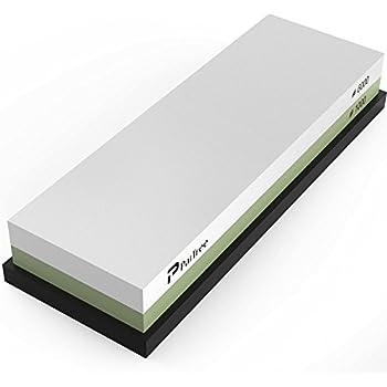 Whetstone, Premium Knife Sharpener Sharpening Stone Water Stone Kit by PaiTree, Safe Honing Holder Silicone Base Included (1000/6000 Grit)
