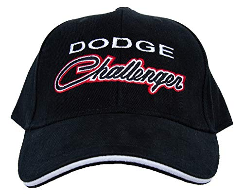Dodge Challenger Classic Car Fine Embroidered Hat Cap, Black