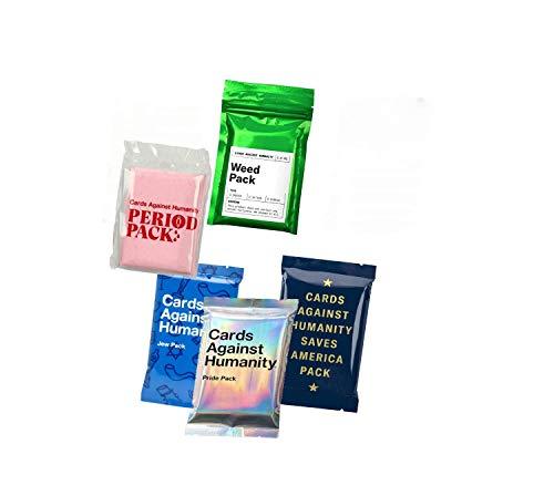Cards Against Humanity Weed & Period & Pride & Jew Pack & Saves America (Cards Against Humanity Best Of)