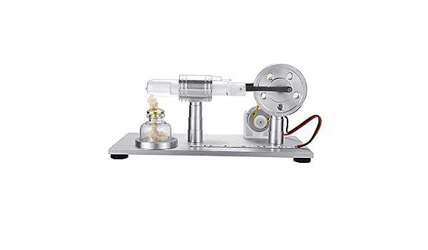 Liergou Modelo De Motor De Juguete Modelo De Combustión Externa Juguete con Luz LED Modelo del Motor Stirling Juguete Educativo Generador De Electricidad (Color ...