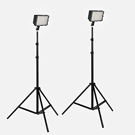 LED 160 Two Light Bi-Color Dimmable Video Lighting Kit For Interviews Portraits Product Photography  sc 1 st  Amazon.com & Amazon.com : LED 160 Two Light Bi-Color Dimmable Video Lighting ... azcodes.com