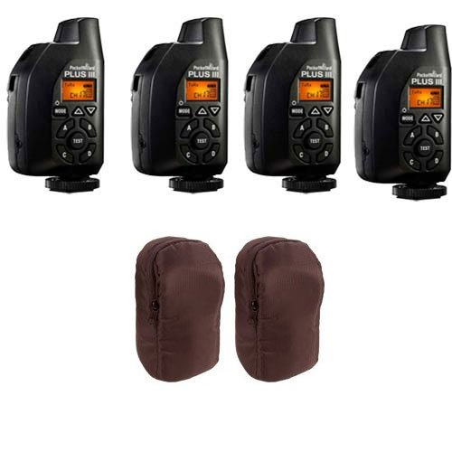 4 Pcs PocketWizard Plus III Transceiver 801-130 Relay Radio Slave Transmitter Receiver + 2 Carrying Cases by PocketWizard (Image #1)