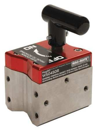 Magnetic Weld Square, 3x2-3/4in, 450lb