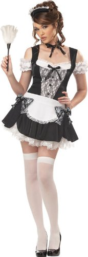 Kiss Costumes For Sale (California Costumes Women's French Kiss Costume,Black/White,Small)
