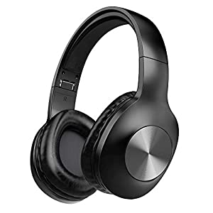 Bluetooth Headphones, LETSCOM 100 Hours Playtime Wireless Headphones Over Ear with Deep Bass, Hi-Fi Sound and Soft Earpads,Built-in Mic Wired Headset for Cell Phones PC Tablet Home Office