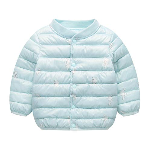Outwear Baby Boy Warm Jacket Baby Girl Unisex Light Puffer Blue Winter Toddler Fairy Cotton gPwCT