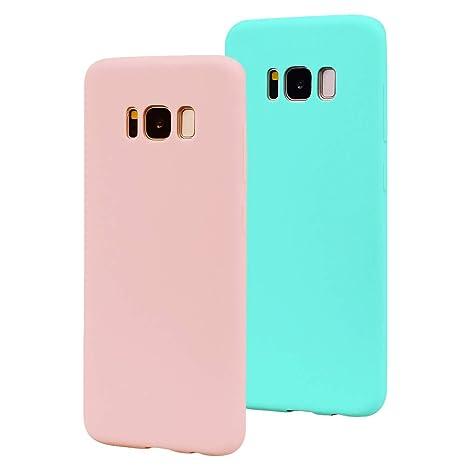 EuCase 2X Funda para Samsung Galaxy S8 Plus Silicona Carcasa ...
