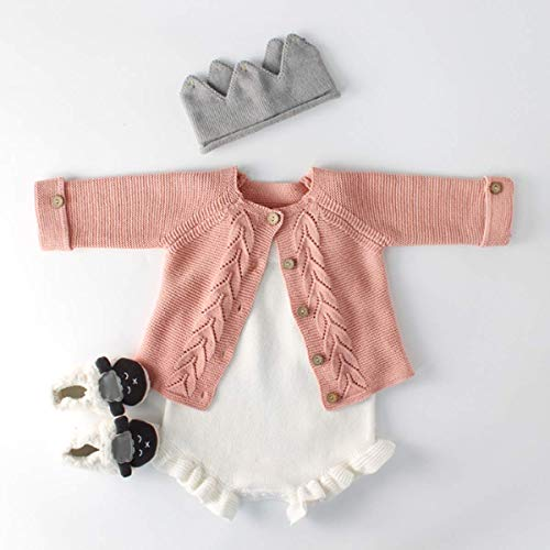 Baby Girl Pink Sweater and Romper Set (3-6 Months) - Sweater Set Baby