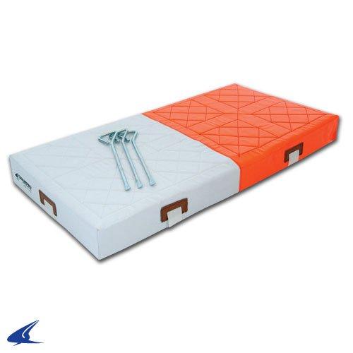 Champro Double First Base (Orange/White, 15 x30 x3-Inch) by CHAMPRO