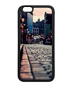 VUTTOO Iphone 6 Case, Evening Old Town Area Snap-On TPU TPU Black Bumper Case for Apple iPhone 6 4.7 Inch