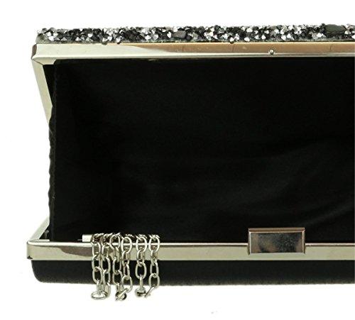 Girly femme pour Noir Pochette Handbags PZZgqwORxn