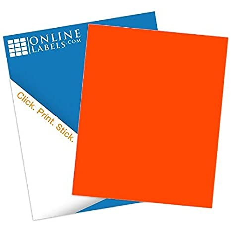 Amazon.com: Fluorescente Printable Pegatina Papel, Rojo ...
