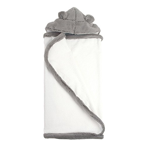 My Blankee Hooded Terry Luxe Towel, Silver, 26'' x 42'' by My Blankee
