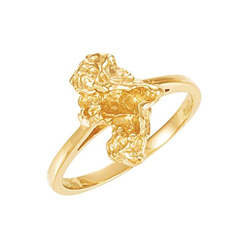 White-gold Nugget Ring - Gold White Nugget Ring