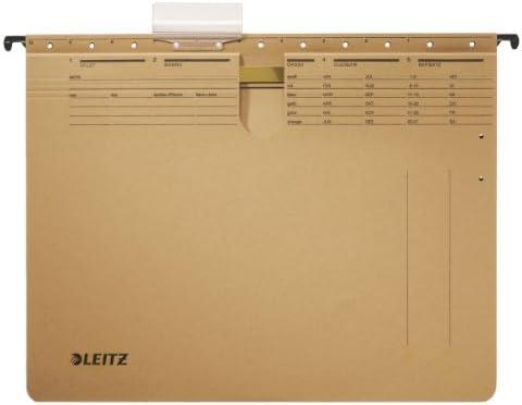 Karton naturbraun Amtsheftung Leitz H/ängehefter ALPHA/®