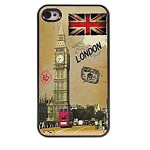SHOUJIKE Sights of London Design Aluminum Hard Case for iPhone 4/4S