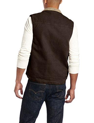 Dark Carhartt Neck Vest Men's Brown Sandstone Mock rwqAX7wa