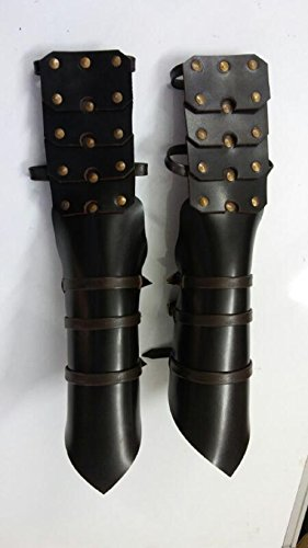 Gothic Leather Armor Gauntlets LARP Cosplay SCA