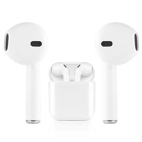 I8 Auriculares Bluetooth Auriculares inalámbricos con micrófono Auriculares y Estuche de Carga, Compatible con Apple