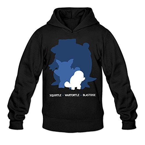 QK Pokemon Blastoise Squirtle Wartortle Men's Sport Hoodie L Black