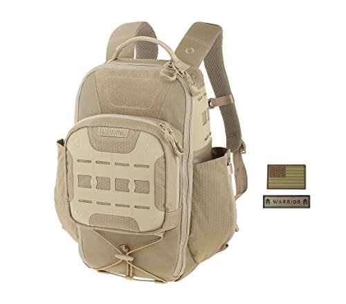 Maxpedition LITHVORE Backpack (TAN) + FREE Warrior & Flag Patch
