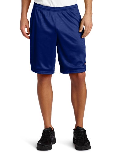 Champion Men's Long Mesh Short with Pockets,Stadium
