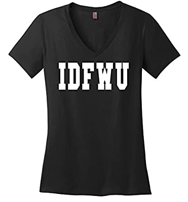 Comical Shirt Ladies IDFWU I Don't Fuck With You Big Sean Shirt V-neck Tee