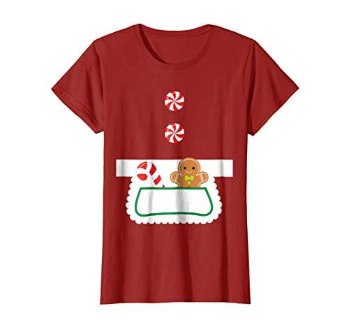 Womens Mrs Claus Apron Costume Shirt Xmas Gift