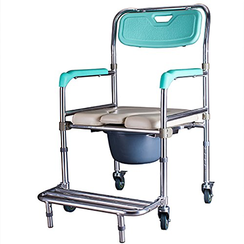 Mariny アルミ合金プーリーお座り議長は、障害者用トイレ付きバスチェアオールド妊婦の人々を折ります B07DCN9VVJ