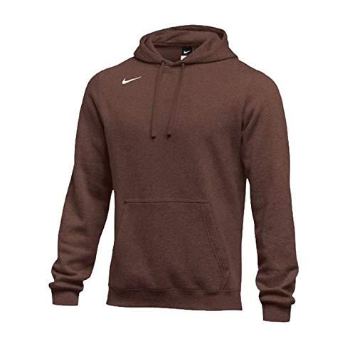 Nike Men's Pullover Fleece Club Hoodie (X-Large, Dark Brown)