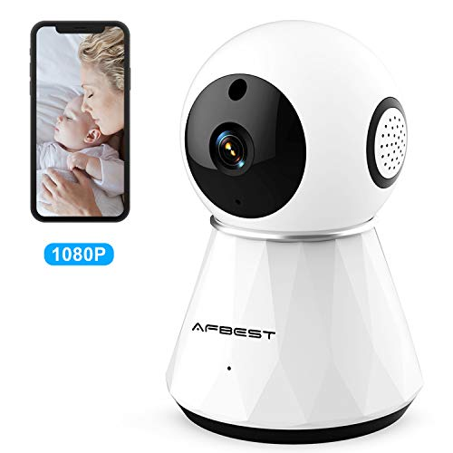 Baby Monitor with WiFi Camera,Smart WiFi Baby Camera 1080P HD with 2-Way Audio, Night Vision, Air Sensors,Vision Remote Control 2.4G WiFi for Baby Monitor