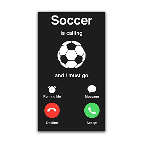 MKS0811 One 5.25 Inch Decal More Shiz Soccer is Calling Must Go Vinyl Decal Sticker Car Truck Van SUV Window Wall Cup Laptop