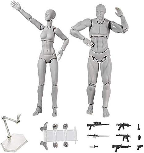 QUEENBACK Luz Cuerpo PVC Movebale Figura de Acci/ón Modelo para SHF Versi/ón 2.0 Regalos 2 Piezas//Set Nude
