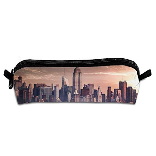 GGlooking Portable Pencil Pouch New York City Simple Zipper Bag,Pen Case Office School Supplies Organizer Stationery Holders