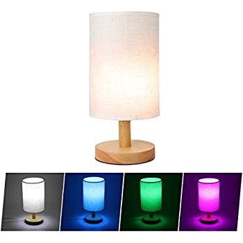 remote control table table lamp sunnior 100 beech wood base 16rgb multi color led