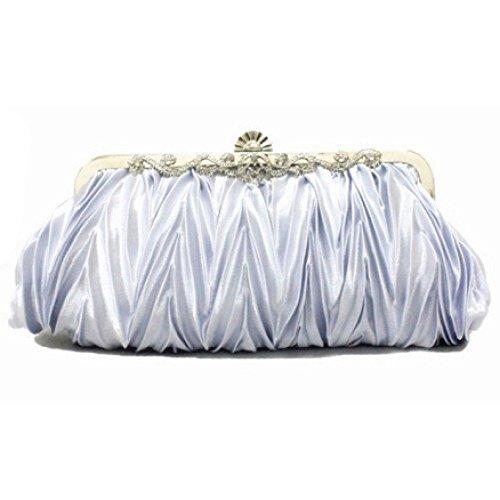 Soirée D'honneur Pochette Clutches Main De De Boulette Froissé Silver Sac Mariage Mariée à Type Demoiselle Dames Sac APqwH8xP